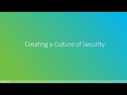 Creating a Culture of Security
