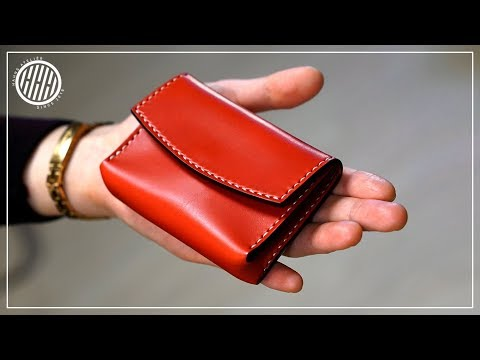 [Leather Craft] Card wallet / Free PDF pattern