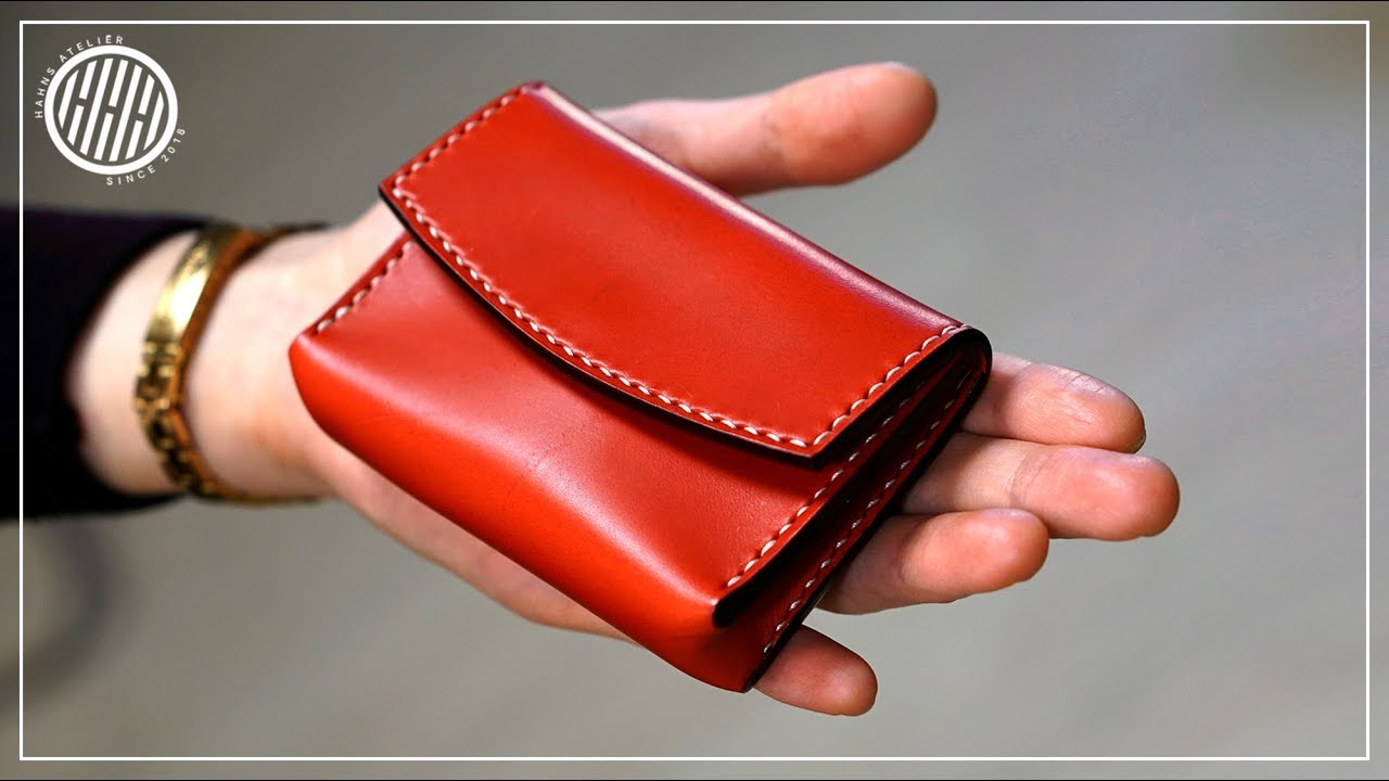 Leather Craft Card Wallet Free Pdf Pattern Youtube