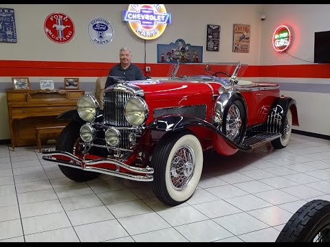 1930 Duesenberg Boattail Speedster Supercharged @ Martin Auto Museum My Car Story with Lou Costabile