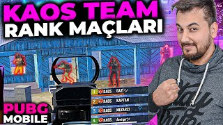KAOS TEAM RANK MAÇLARI / PUBG MOBILE