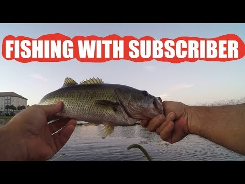 catching-florida-bass-with-subscriber-jorge-(jon-boat-pond-fishing)