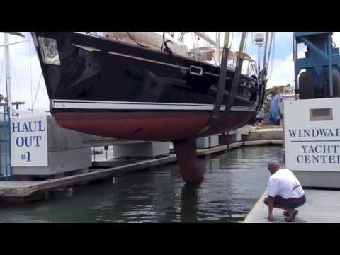 Jeanneau 54 Deck Salon Sailboat Haul Out for Survey and Hull design By: Ian Van Tuyl
