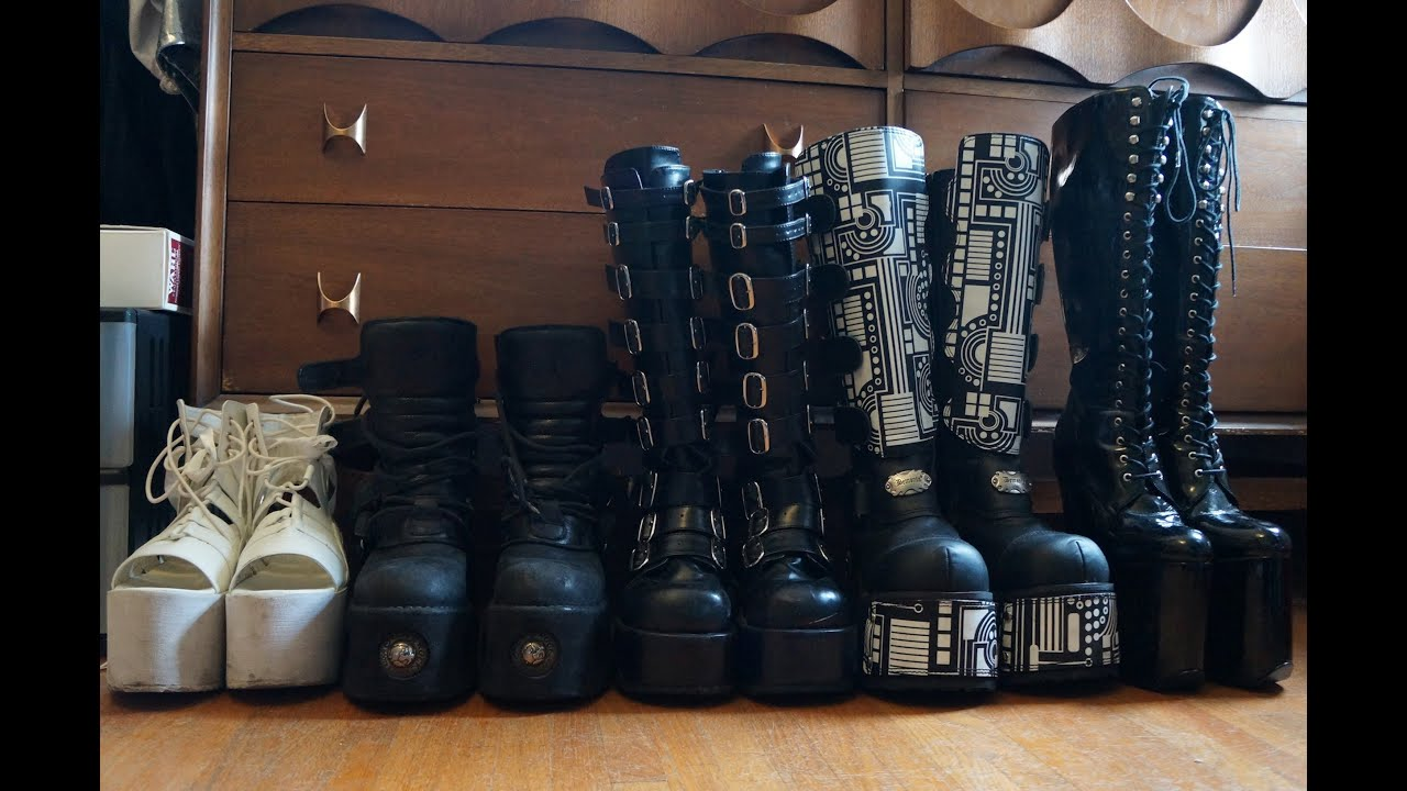 My Platform Shoe Goth Boot Collection 2015 Youtube