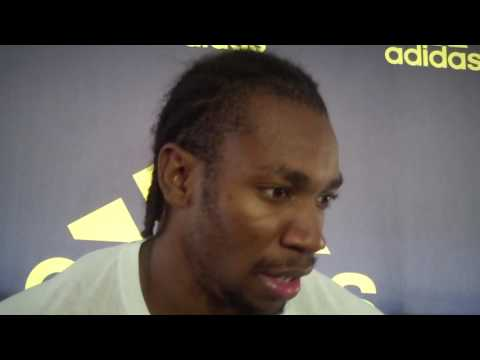 Yohan Blake Speaks After Runner-Up Finish in 100 at 2016 adidas Boost Boston Games