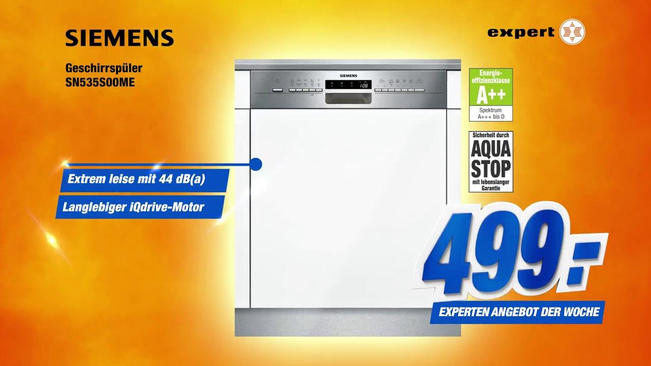 Tv Spot Siemens Geschirrspuler Sn535s00me Angebot Der Woche Youtube