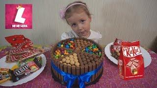 Торт из Kit Kat и M&m и конфет Skittles, Meller, Maltesers на День рождения Никиты