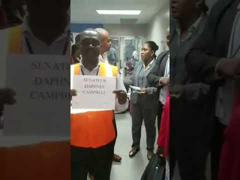 Diplomat Welcome at Airport in Haiti