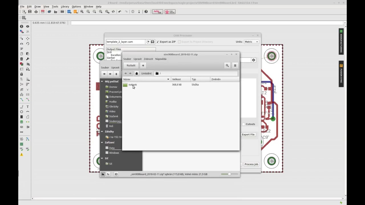Eagle CAD - export fabrication gerber data (seeedstudio, allpcb ...