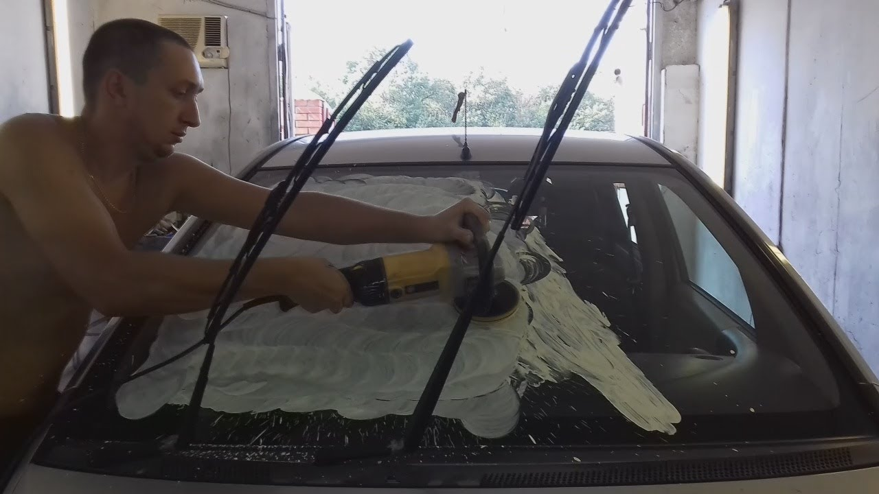 Как убрать царапины с лобового стекла от дворников своими руками фото 255