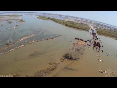 Мост Аксу - Павлодар при разливе , май 2015