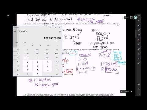 Video #7.1 - Compound Interest