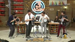 3 Adam - Programda Muhteşem Darbuka Gösterisi (2.Sezon 21.Bölüm)