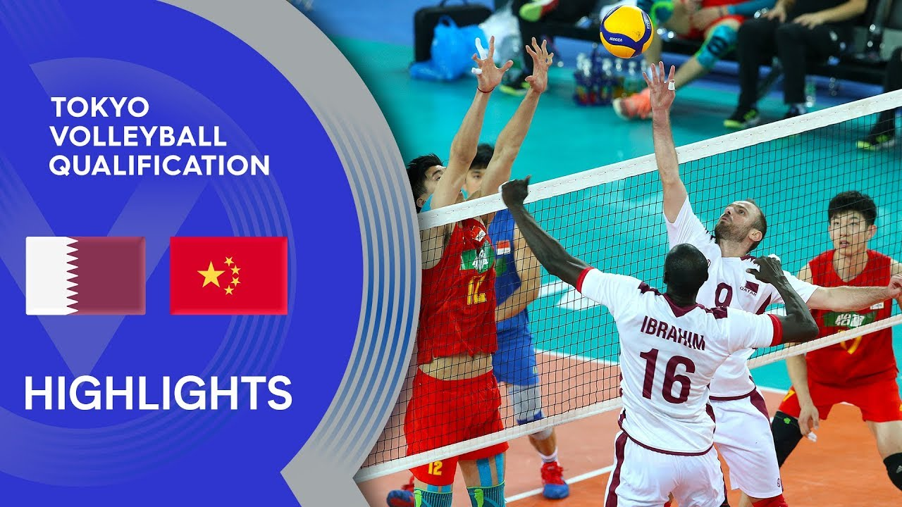 Qatar vs. China - Highlights | AVC Men's Tokyo Volleyball Qualification 2020