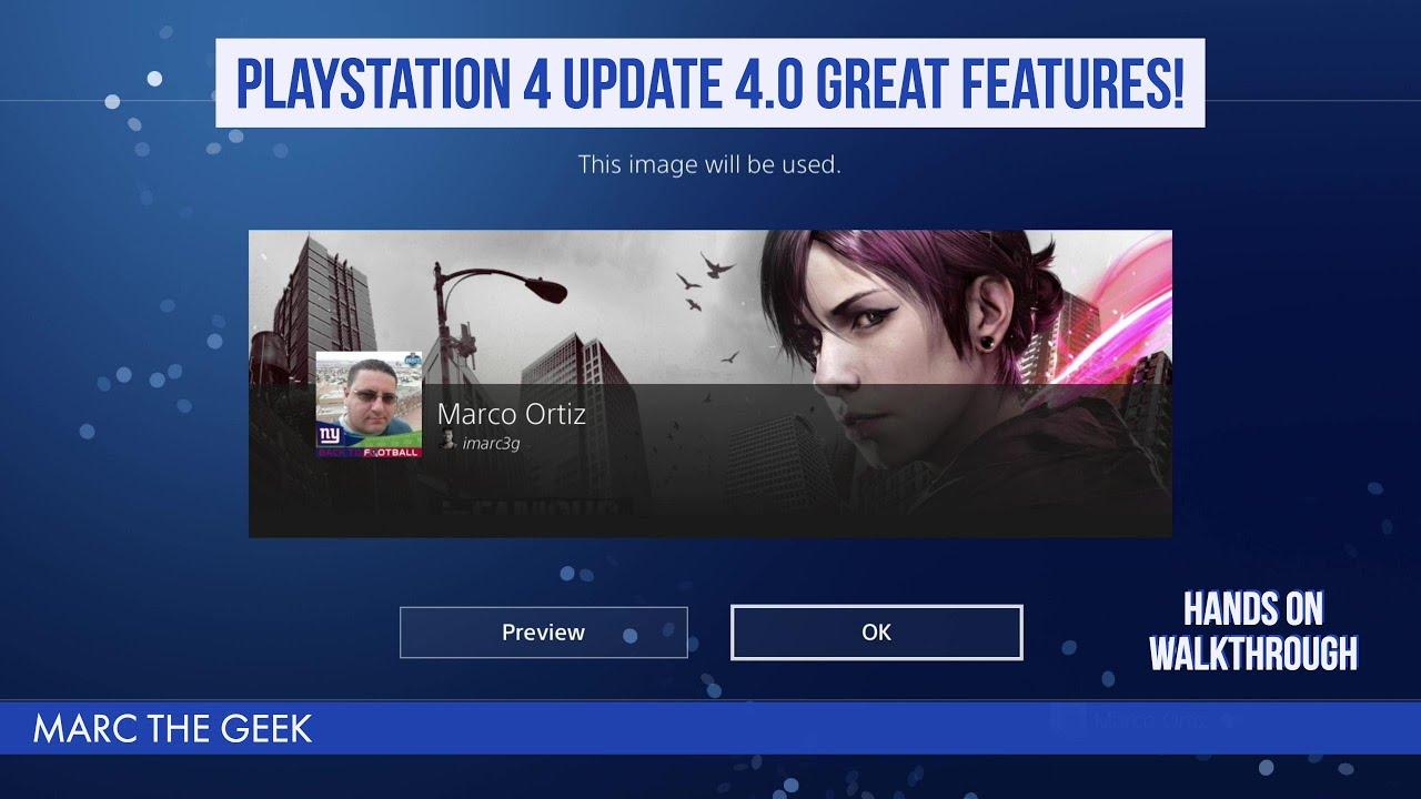 Ps4 Update 4.0