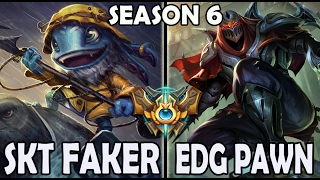 Faker vs Pawn - Fizz vs Zed Ranked Challenger Korea