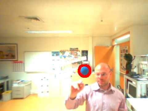 Real-time 3D tracking of a sphere.