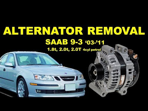 SAAB 9-3 93 SS 03-12 ALTERNATOR how to remove replace 2.0T 2.0t 1.8t petrol 2 litre #saabworld