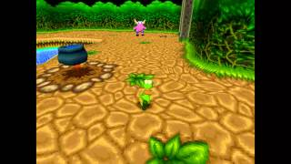 Croc 2 Kingdom of the Gobbos [PSX] 100% - Level 5-3 Secret Caveman Village!