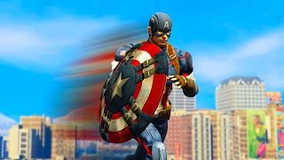 CAPTAIN AMERICA VS THE CITY! (GTA 5 Funny Moments)
