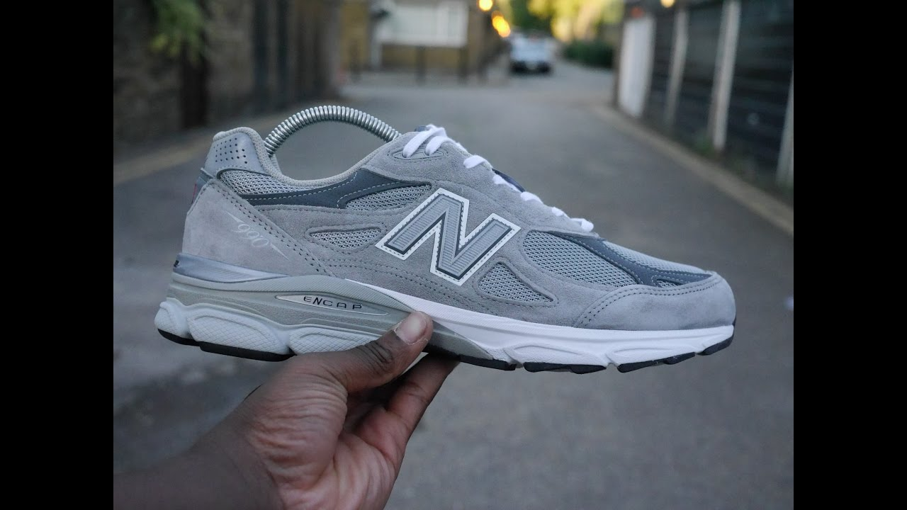 info for c0555 32600 New Balance 990 v3 Review & On Feet (Grey)