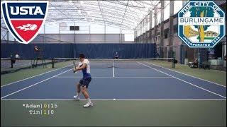 Tennis with YouTuber Adam C. - USTA NTRP 4.5 vs new 4.0 Highlights HD
