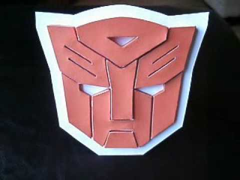 papercraft autobot symbol logo from transformers youtube