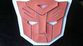 Papercraft Autobot Symbol / Logo from Transformers