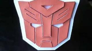 Papercraft Autobot Symbol / Logo from Transformers
