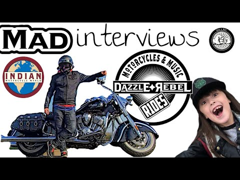 Mad Interviews Dazzle Яebel Rides Of The Indian Motorcycle World!