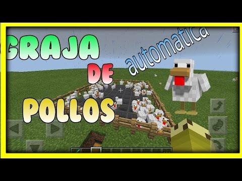 Como hacer una granja de pollos minecraft pe youtube for Como hacer una granja de peces