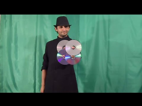 تعلم العاب الخفة # 325 .....   appearance of 4 CD ... magic trick revealed