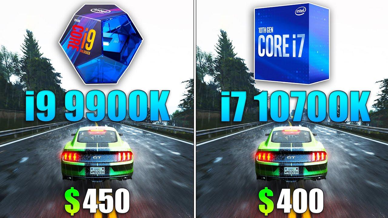 i9 9900K vs i7 10700K Test in 10 Games
