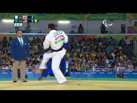Judo | Georgia v USA | Men's -90 kg Semi-final | Rio 2016 Paralympic Games
