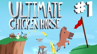 Stumpt Plays - Ultimate Chicken Horse - #1 - Party Mode (4 Player Gameplay)