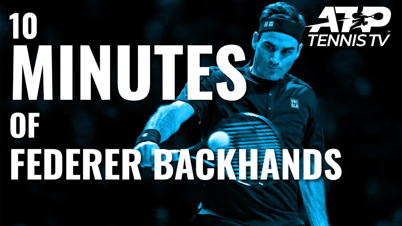 10 MINUTES OF: Roger Federer Backhands