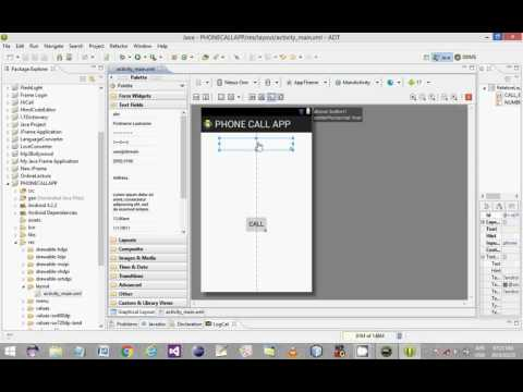 Rabs Developer How To Create  Phone Call Application In Eclipse Java/Xml