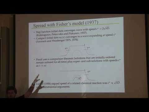 GCI2016: Mini-course 4: Structured dynamical models for biological invasions - Lecture 2: Mark Lewis