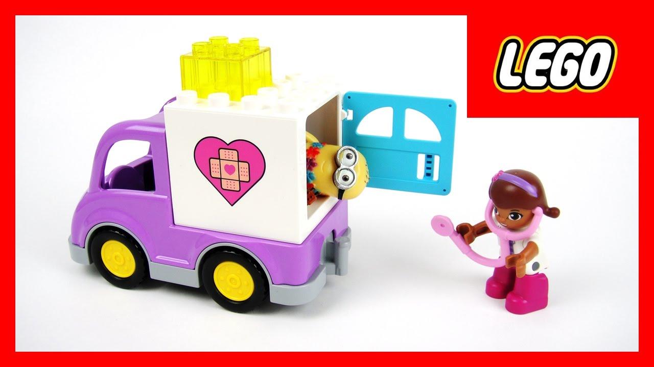 玩樂高積木 小醫師大玩偶 麥芬醫生 救護車 大家來看診 玩具開箱 - YouTube