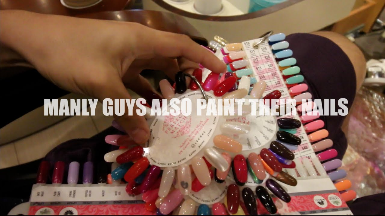 MANLY GUYS ALSO PAINT THEIR NAILS !! (WHICH COLOR THOUGH!?) - YouTube