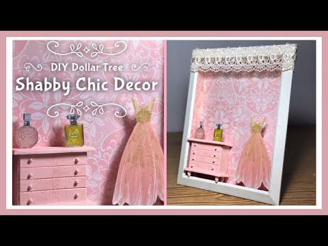 DIY Dollar Tree 3D Shabby Chic Shadow Box Room Decor - Wall Or Table Top Decor - Kids Room Decor
