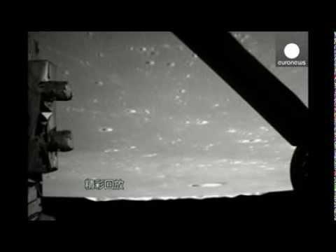 China moon landing video: 'Jade Rabbit' rover soft-lands on lunar surface