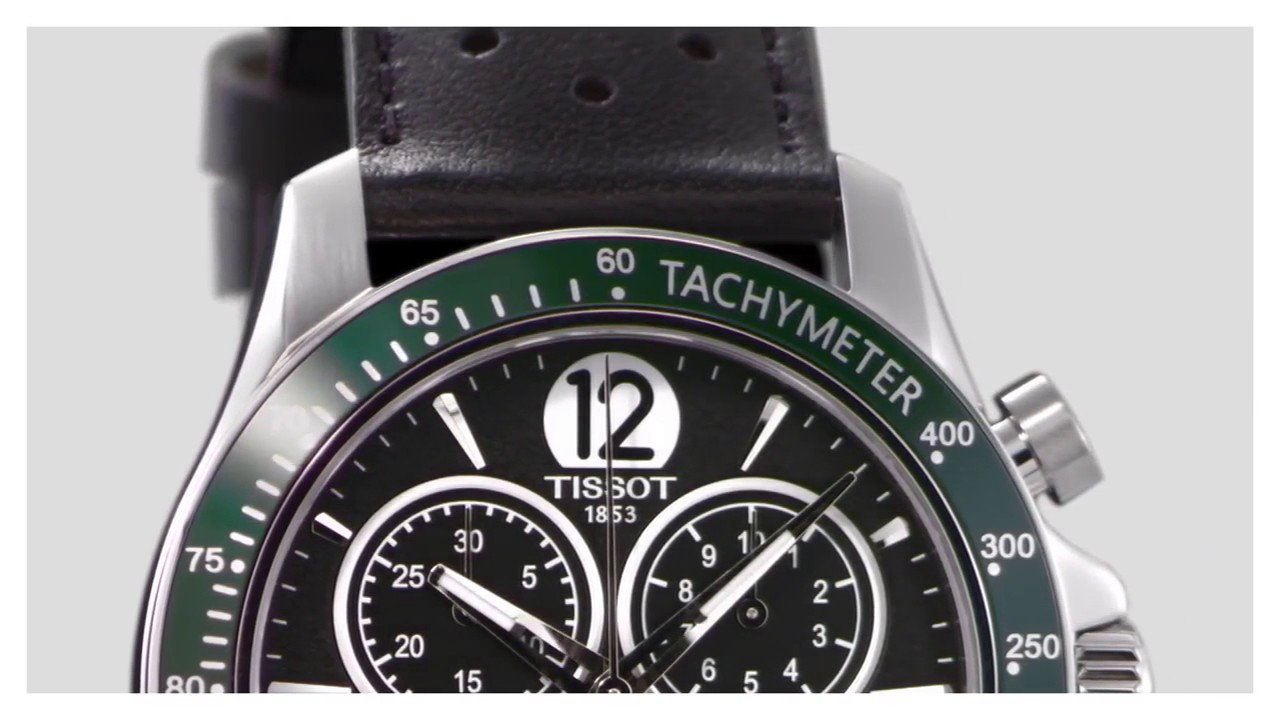 1ec2ce8f7c3 Tissot V8 Black Dial & Green Men's Strap Watch. Berry's Jewellers