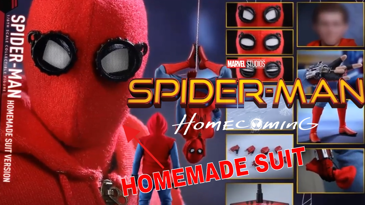 Spider Man Homecoming Homemade Suit Action Figures😭 Youtube