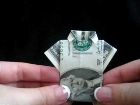Money Origami Shirt - YouTube | 360x480
