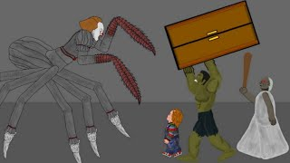 IT Pennywise vs Granny, Hulk, Chucky Drawing Cartoons 2 Animation HD