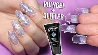 MIXING POLYGEL and GLITTER - Dual Form Nails
