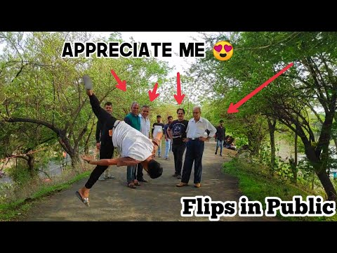 FLIPS IN PUBLIC ! FLIPS REACTION 😮😍 |  PART 4