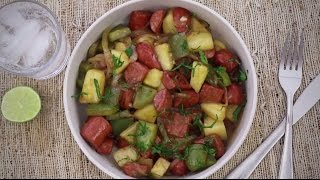 Sausage Recipes - How to Make Hawaiian Sausage Skillet