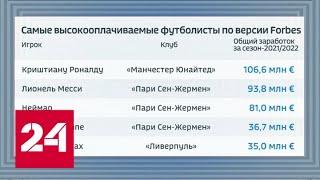 Новый контракт Капризова, отказ Дзюбы и заработок Роналду - Россия 24 